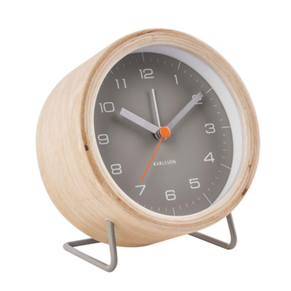 Επιτραπέζιο Ρολόι - Ξυπνητήρι KA5669GY Innate 10.5x6x12cm Warm Grey Karlsson