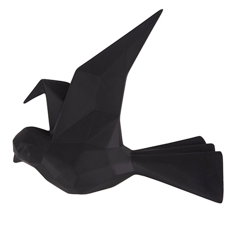 Κρεμάστρα Τοίχου Origami Bird PT3616BK Small 19x3,5x15,7cm Black Present Time