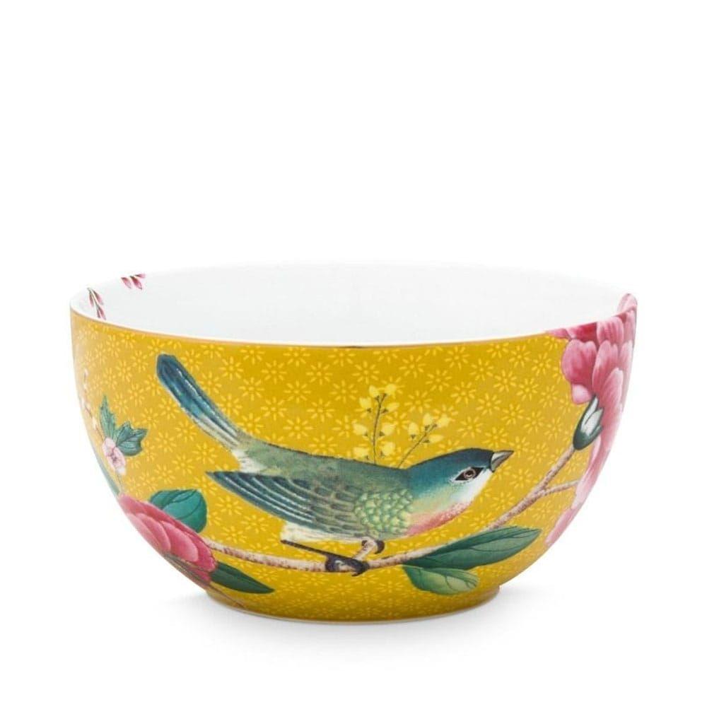 Μπωλ Πορσελάνινο 51003138 Blushing Birds 12cm Yellow Pip Studio