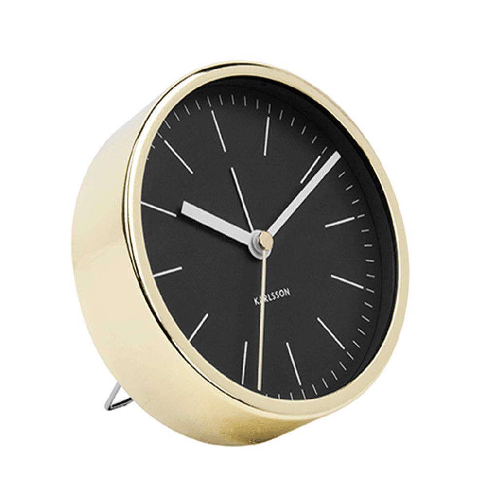 Επιτραπέζιο Ρολόι - Ξυπνητήρι Minimal KA5683BK Φ10cm Black Karlsson