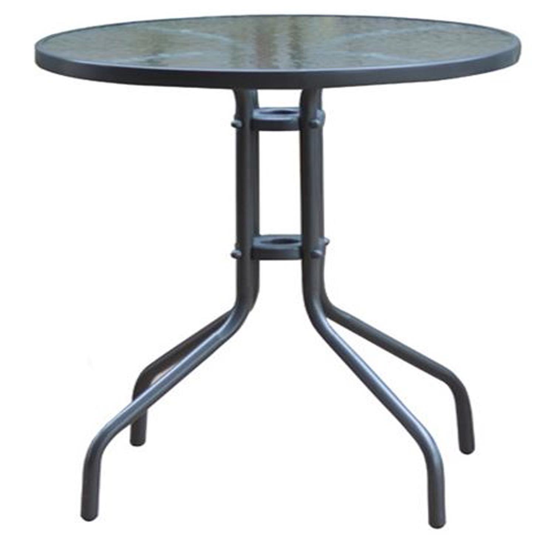 Τραπέζι Baleno Ε2400,1 Μεταλλικό Γκρι Φ60/H70cm