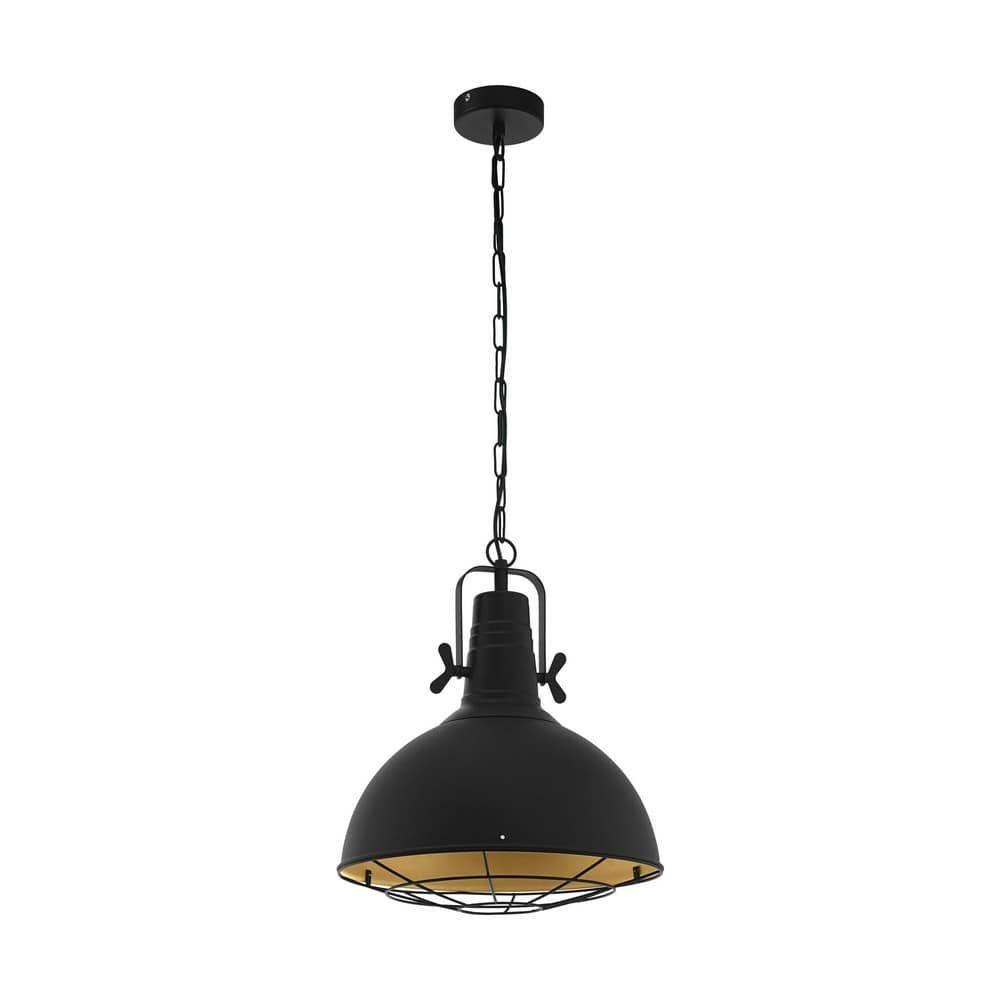 Φωτιστικό Οροφής Κρεμαστό Cannington 49742 Black-Gold Eglo