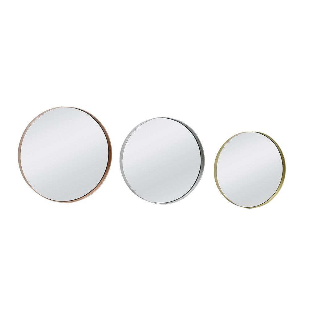 Καθρέπτης Triple Gold/Silver/Copper D30/36/42x4cm 11-0145