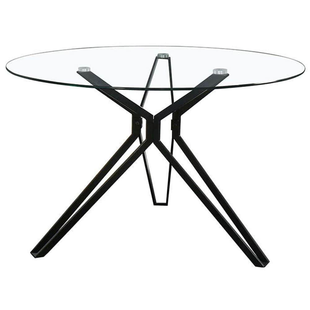 Τραπέζι Noir Black-Clear D110x75cm 02-0325