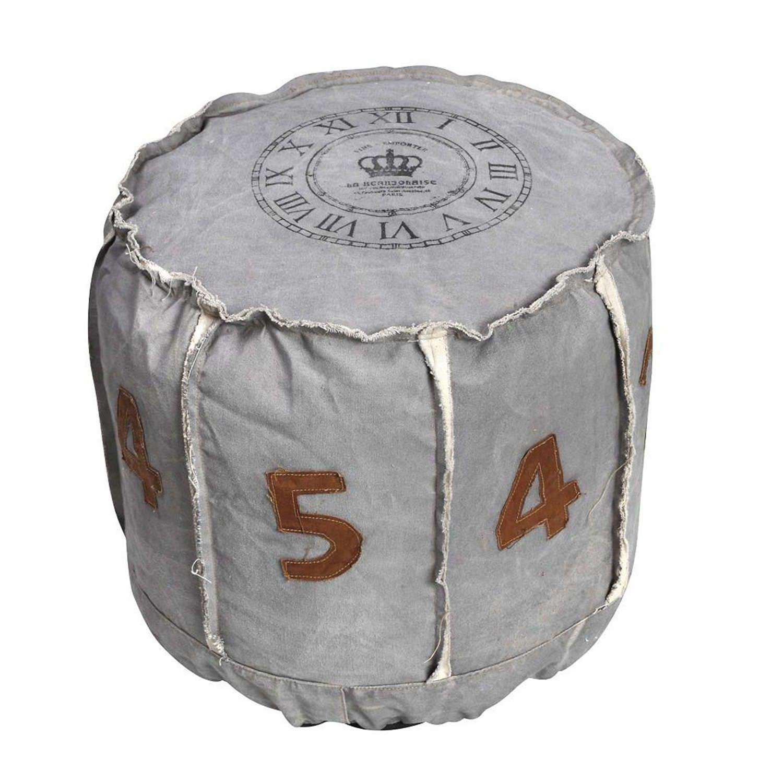 Πουφ Νούμερα PUF108 Grey 50x50x46cm Espiel