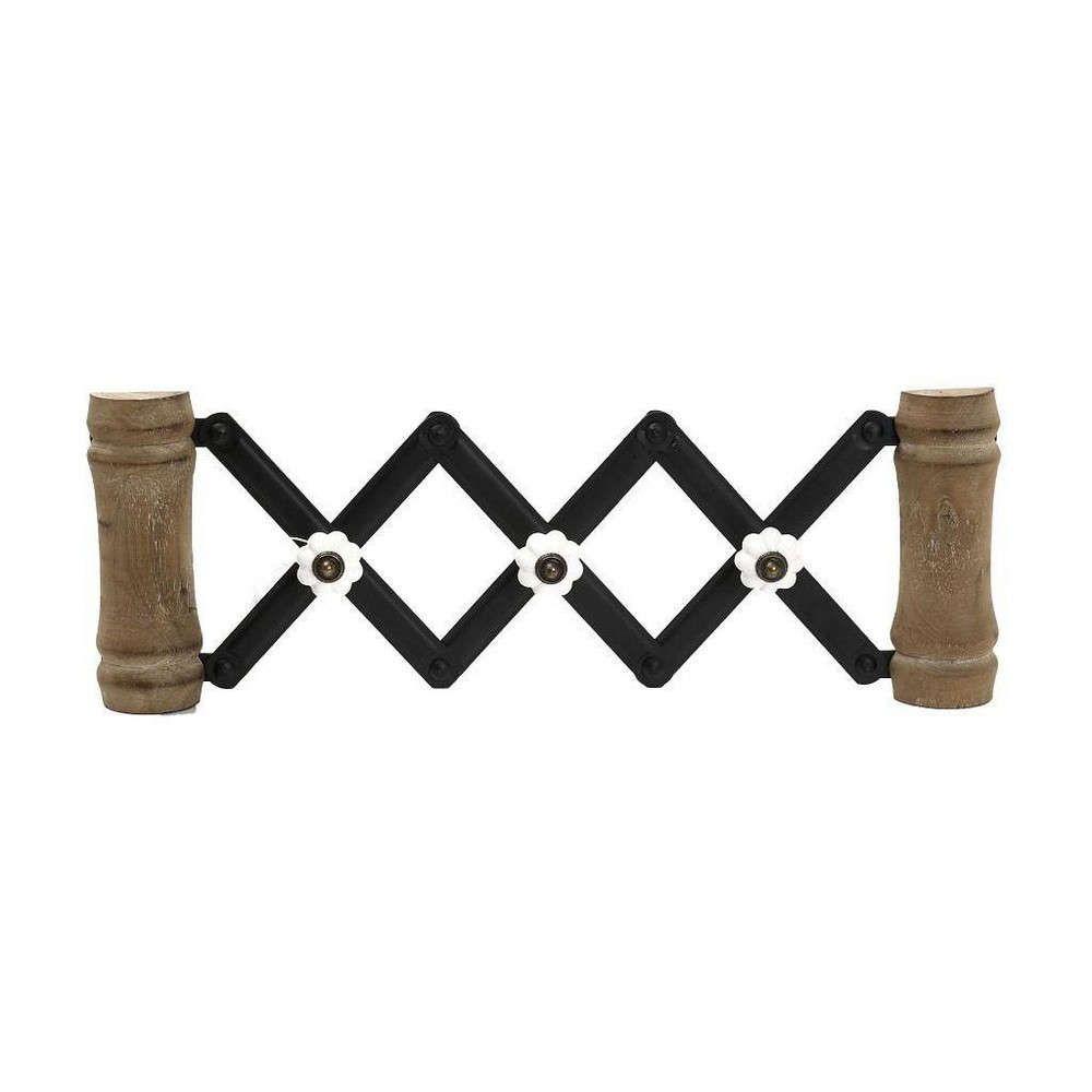 Κρεμάστρα Πτυσσόμενη 3 Θέσεων GAD128 Καφέ-Μαύρο 16x46x4,5cm Espiel