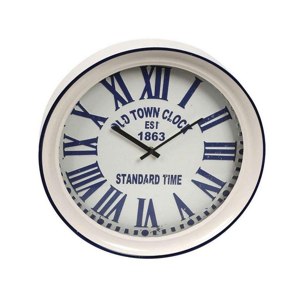 Ρολόι Τοίχου LOG527 Μπλε 43x43x7cm Espiel