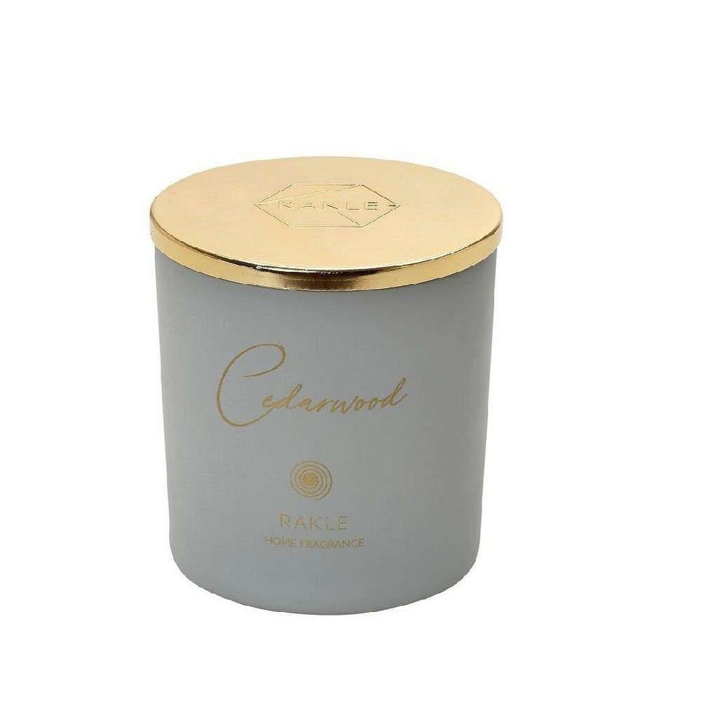 """Αρωματικό Κερί Με Καπάκι """"Cedarwood"""" 140gr Grey-Gold Espiel"""