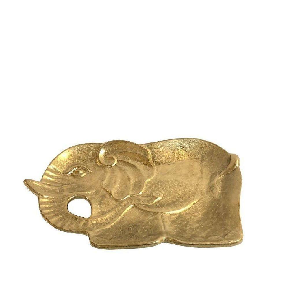 Διακοσμητικός Δίσκος Ελέφαντας 33cm Gold ROD103K3 Espiel
