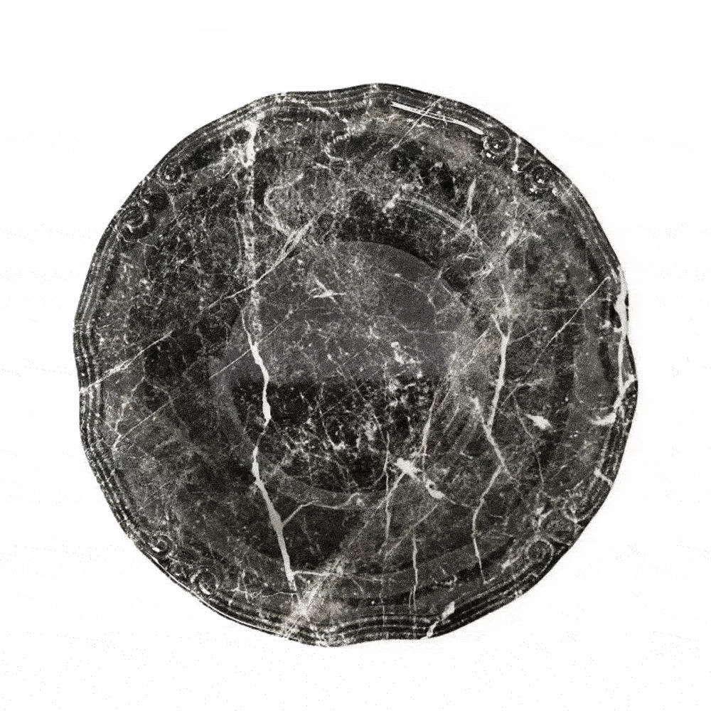 Πιατέλα Marble Στρογγυλή Rpm209K2 Φ33cm Black Espiel