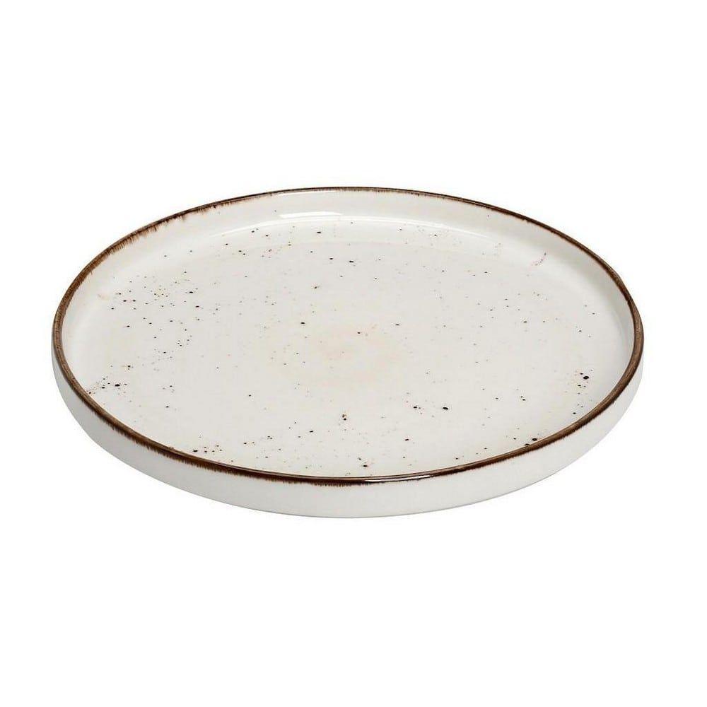 Πιάτο Πορσελάνινο Terra Step Ρηχό Tlk131K4 Φ26cm Cream Espiel