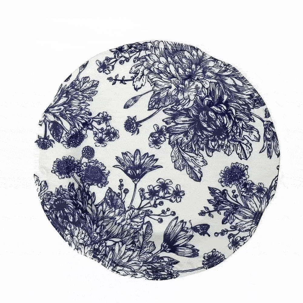 Πιάτο Κεραμικό English Blue Φρούτου Rpn203K6 Φ20cm White-Blue Espiel