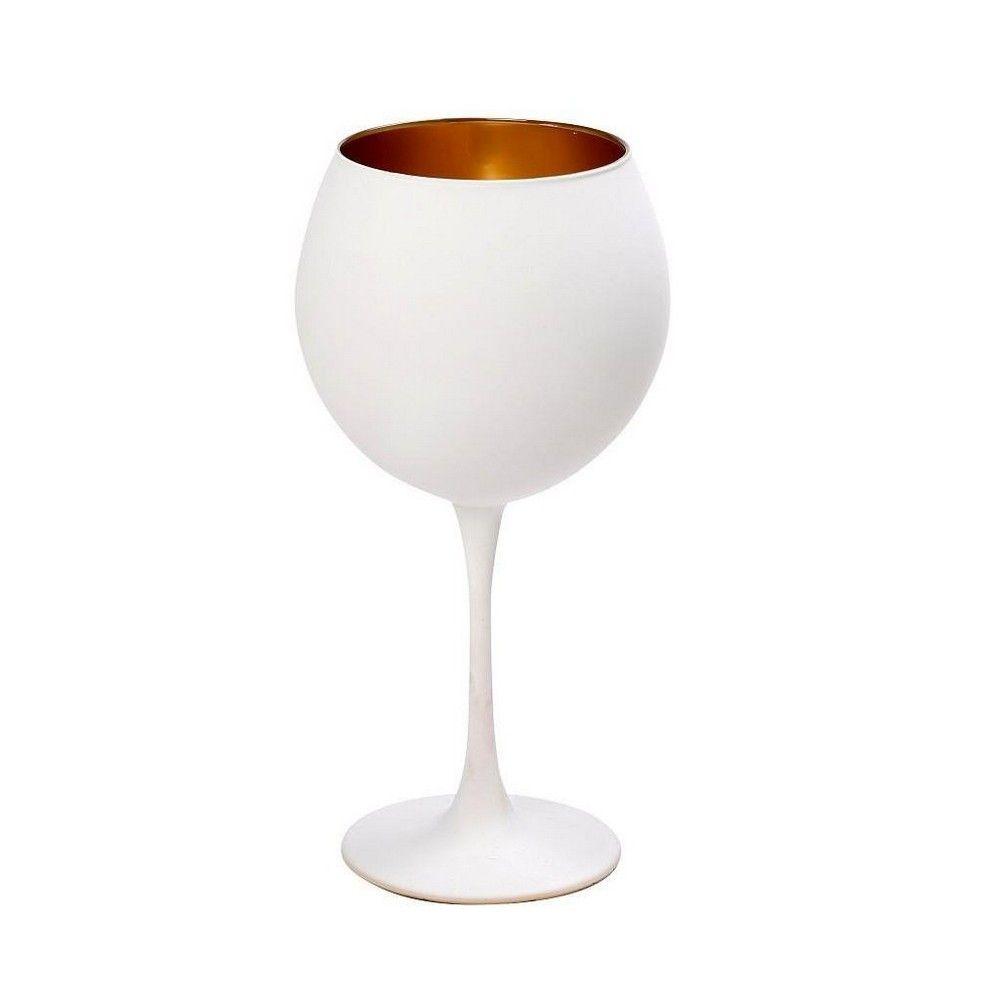 Ποτήρι Κρασιού Maya 8 Rab313K6 5Χ21 5cm White-Gold Espiel
