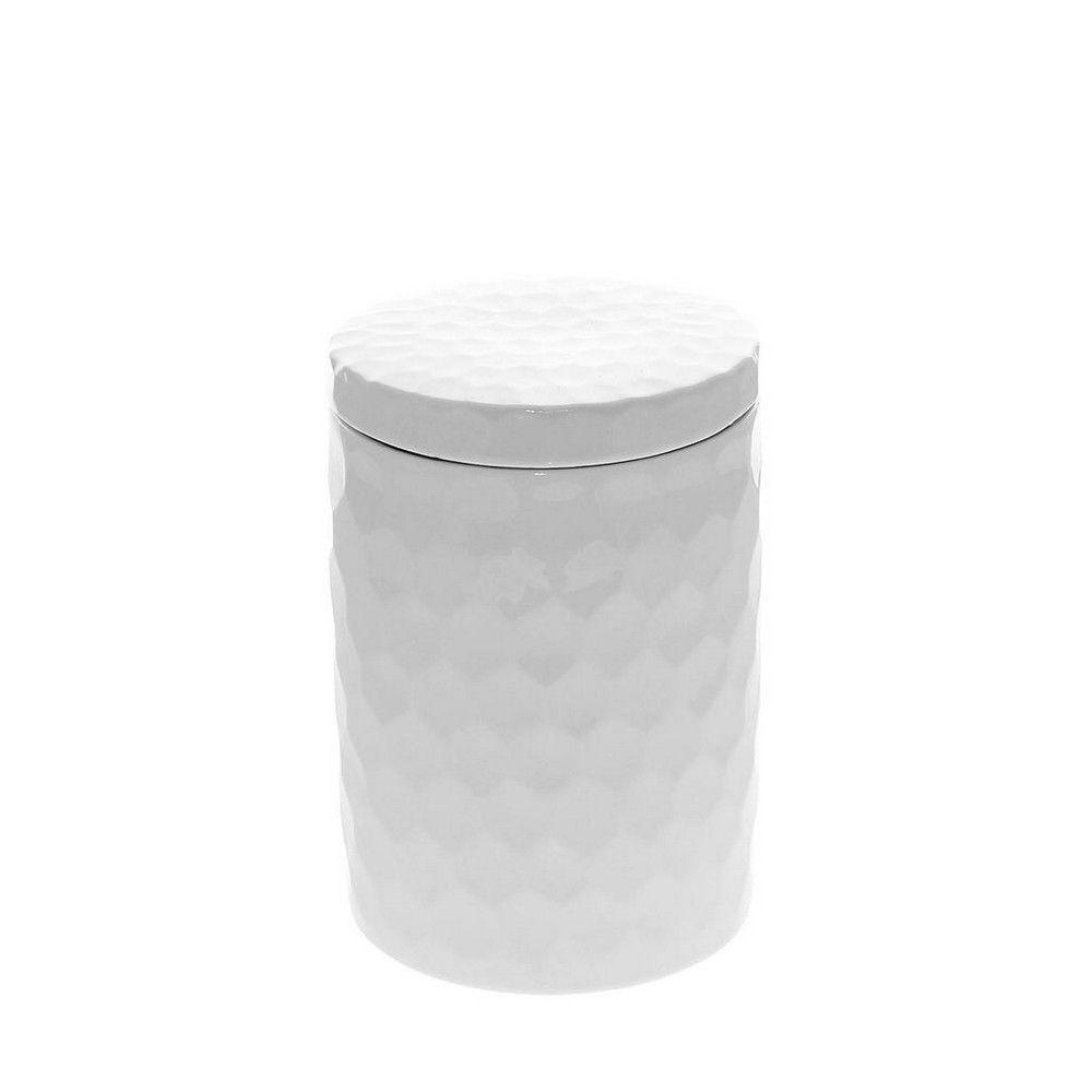 Δοχείο Με Καπάκι Κυψέλη Μεγάλο 16cm Wem307 White Espiel