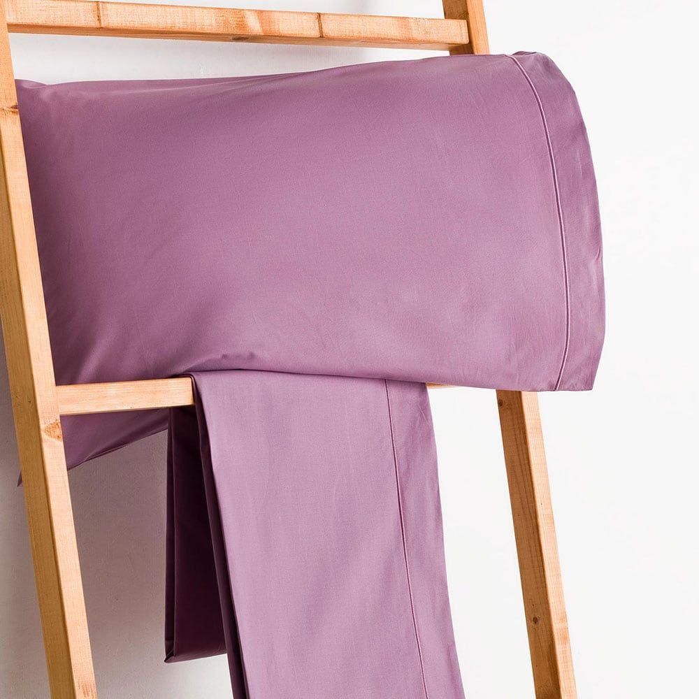Σεντόνι Με Λάστιχο 180Χ200+30 Purple Σύνθεση-511 Vesta Home