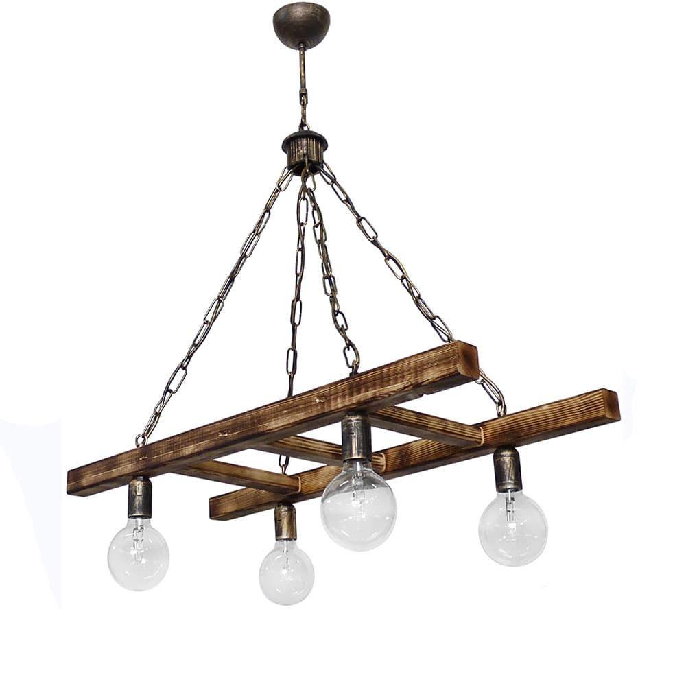Φωτιστικό Οροφής - Ράγα Skala/4 30-0054 Chair BR Heronia