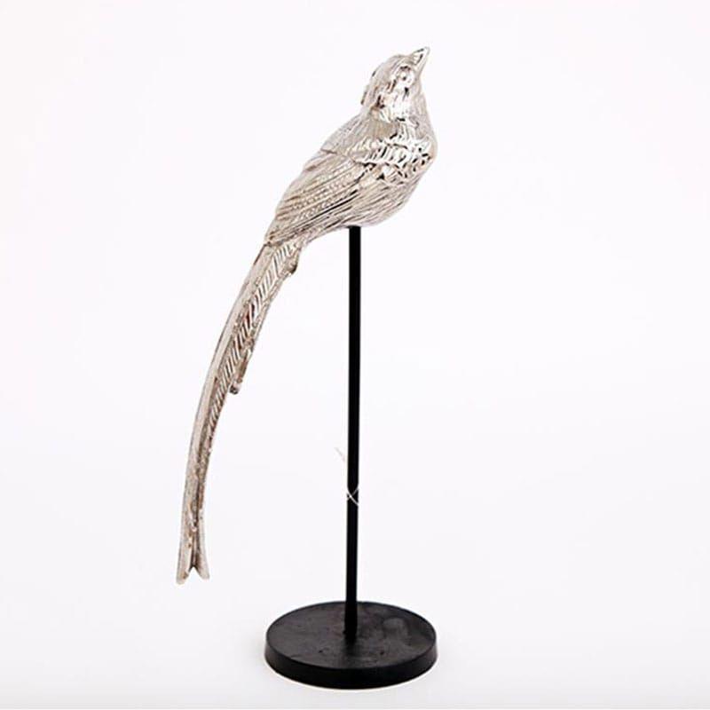 Πουλί Διακοσμητικό Σε Σταντ 014.OR1185 Y29cm Silver