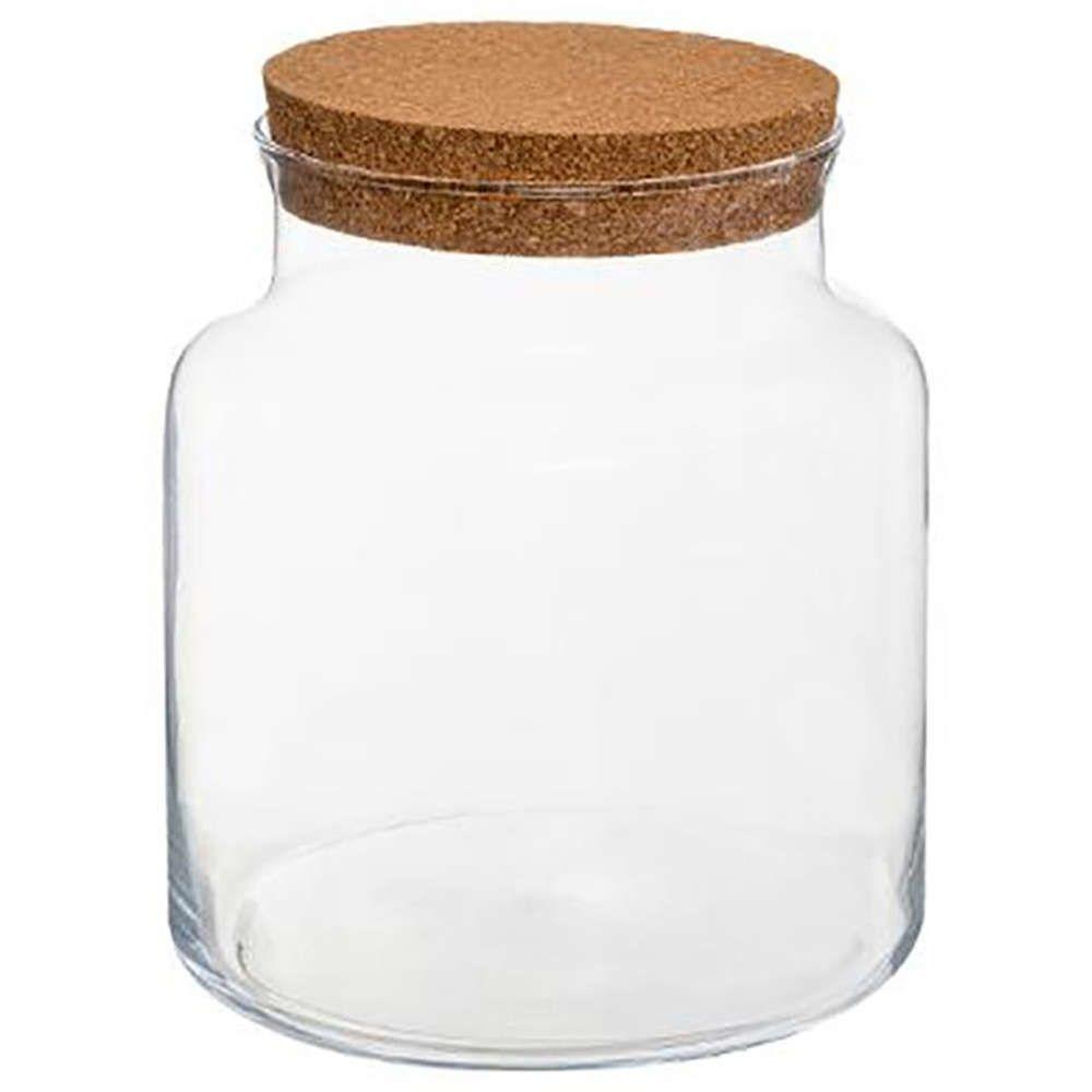 Δοχείο Γυάλα Με Καπάκι Φελλού 07.168576 17,5Χ21cm Clear Plastona