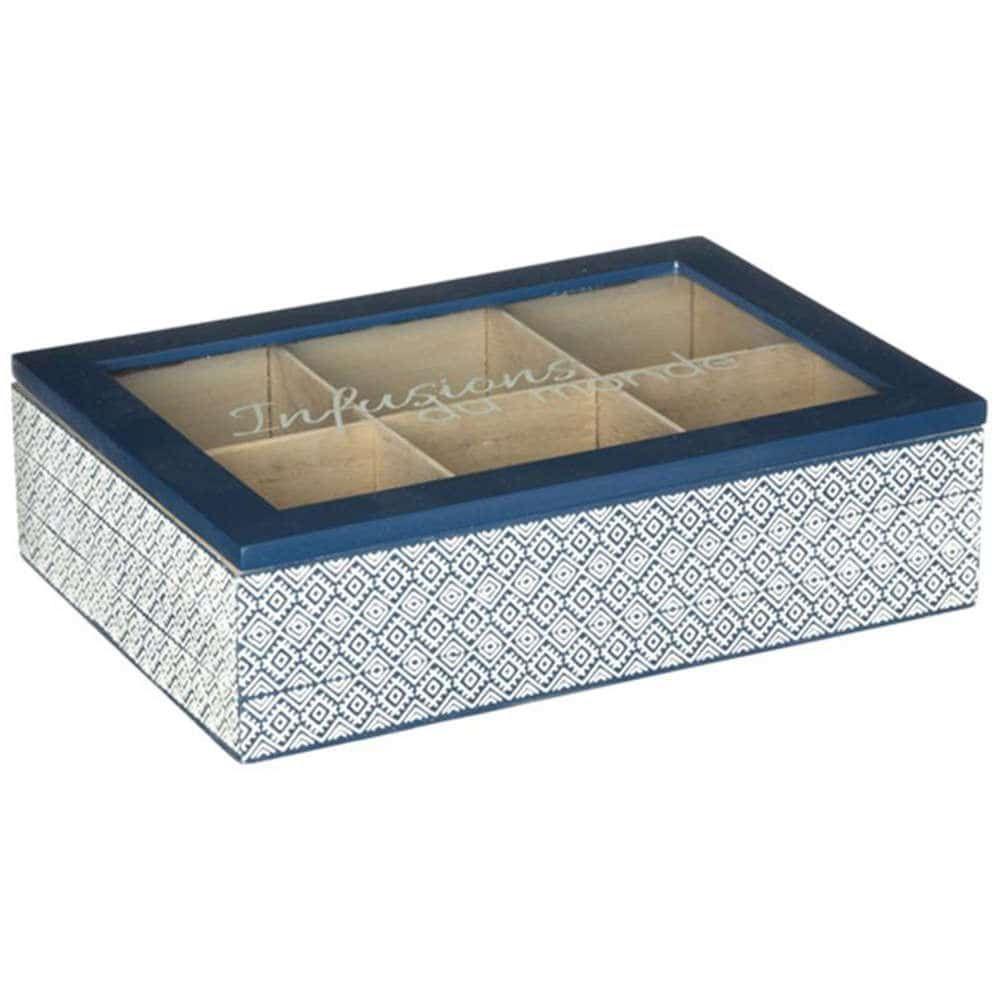 Κουτί Για Τσάι Jap 07.145732 Ξύλινο Blue Plastona