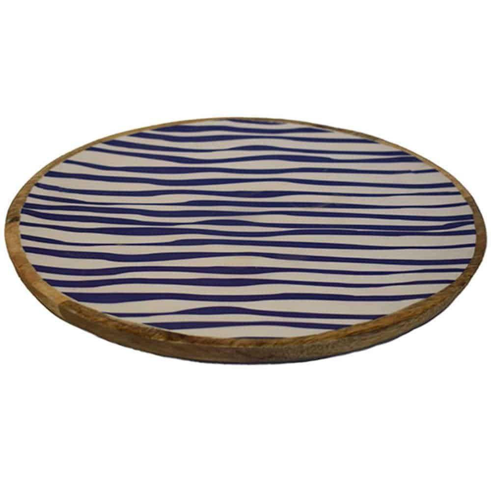 Πιατέλα Σερβιρίσματος Mango-Enamel 00.07.7448 Φ30Χ2,5cm Blue Plastona