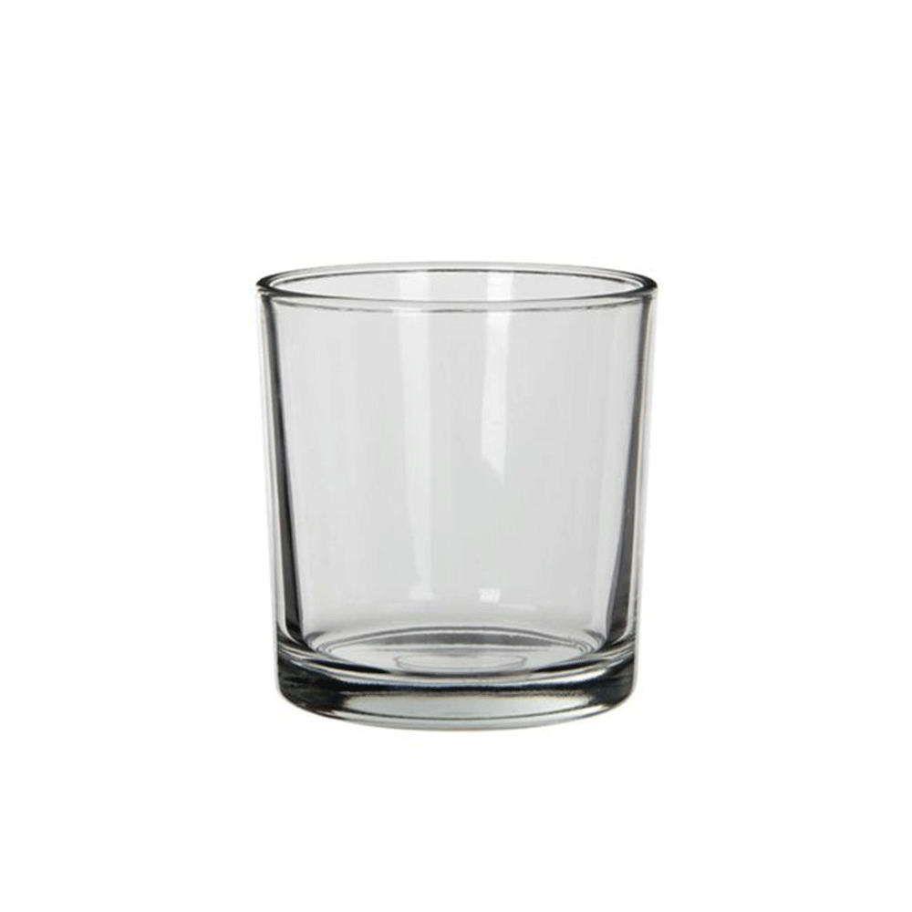 Βάζο Στρογγυλό Kenny 02.1013013 14x14cm Γυάλινο Clear Plastona