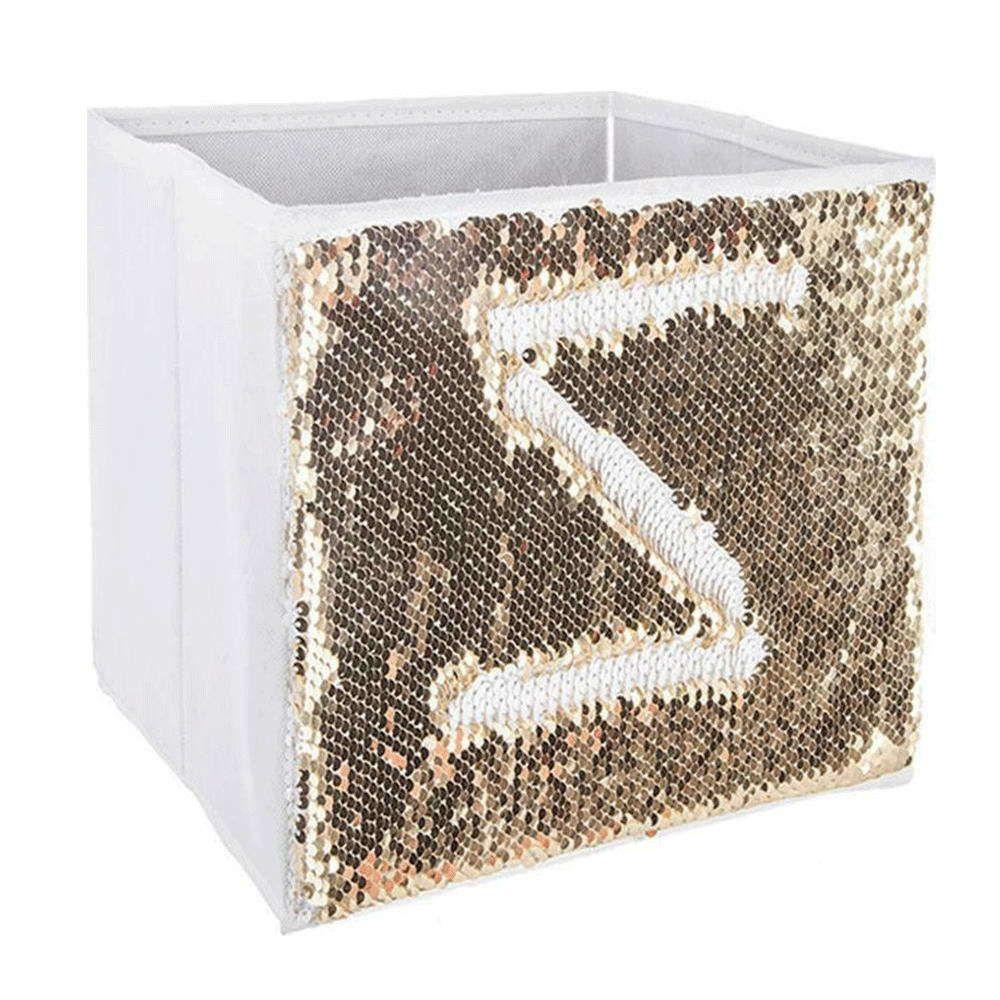 Κουτί Αποθήκευσης Παιδικό Με Πούλιες 07.127333B Υφασμάτινο White-Gold Plastona