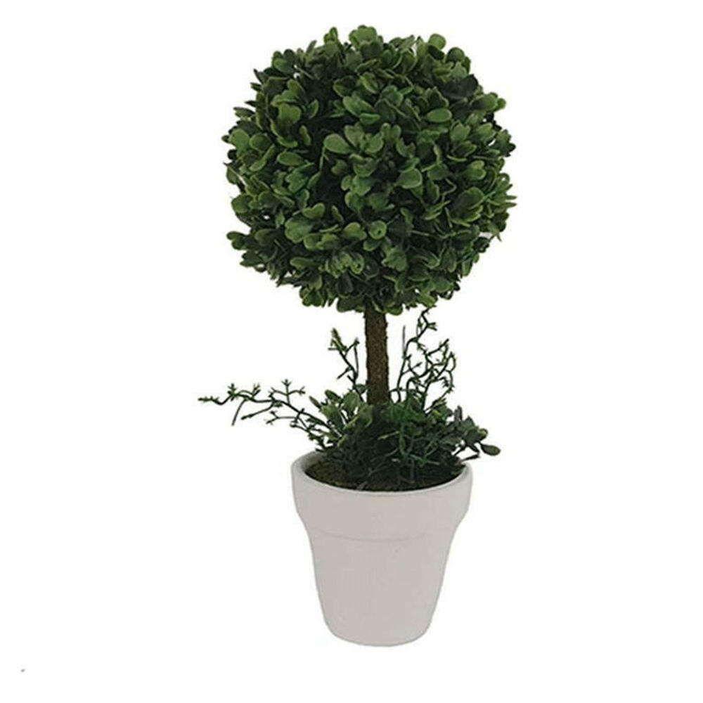 Μπονσάι Σε Κεραμικό Κασπώ 00.04.40008 32cm White-Green Plastona