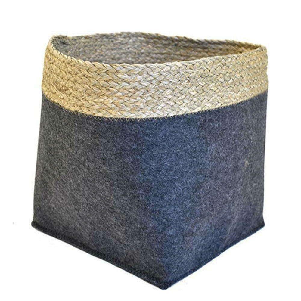 Καλάθι Διακοσμητικό Με Σχοινί 00.06.67174 20x20x20cm Beige-Grey Plastona
