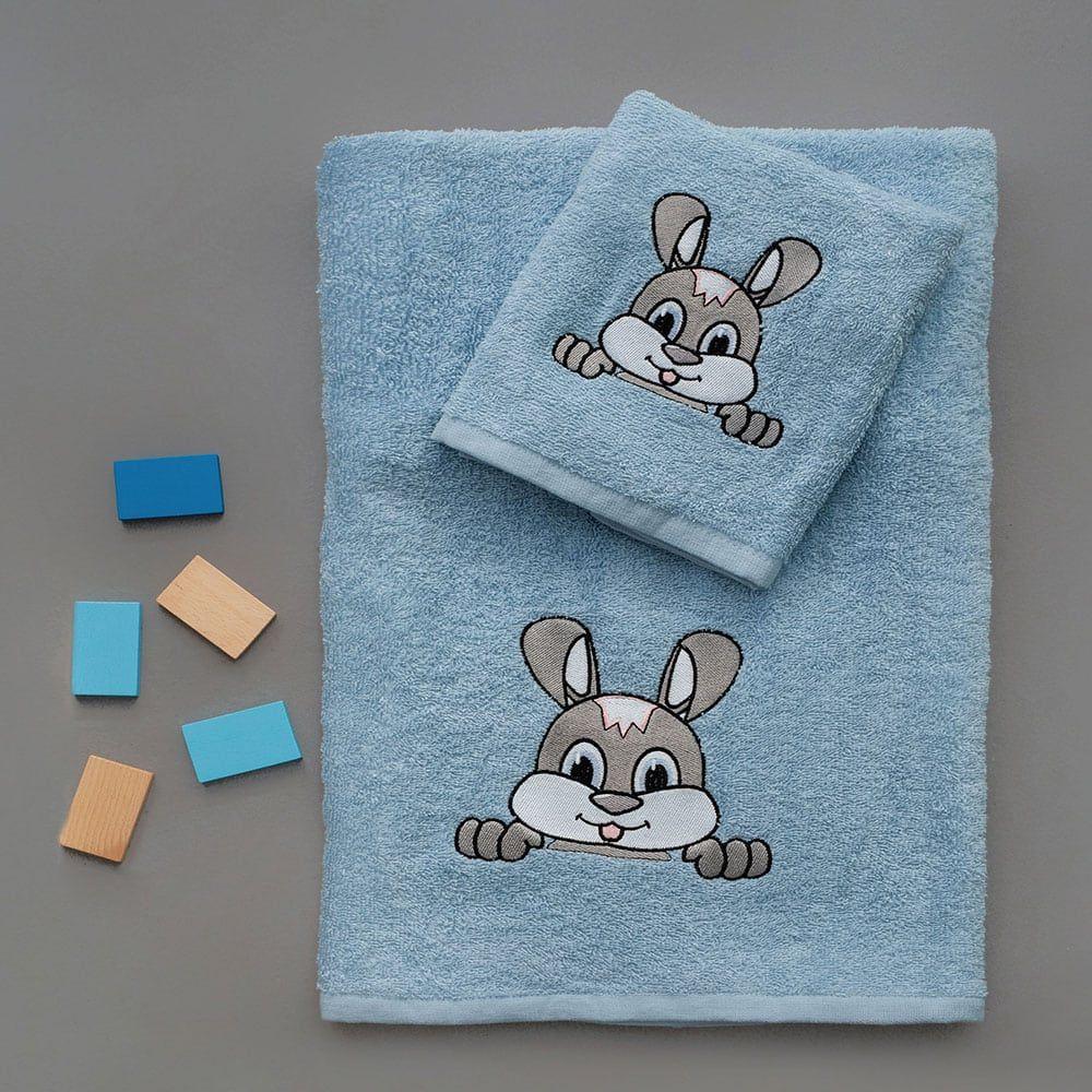 Πετσέτες Παιδικές Σετ 2τμχ Fuzzy Blue Palamaiki
