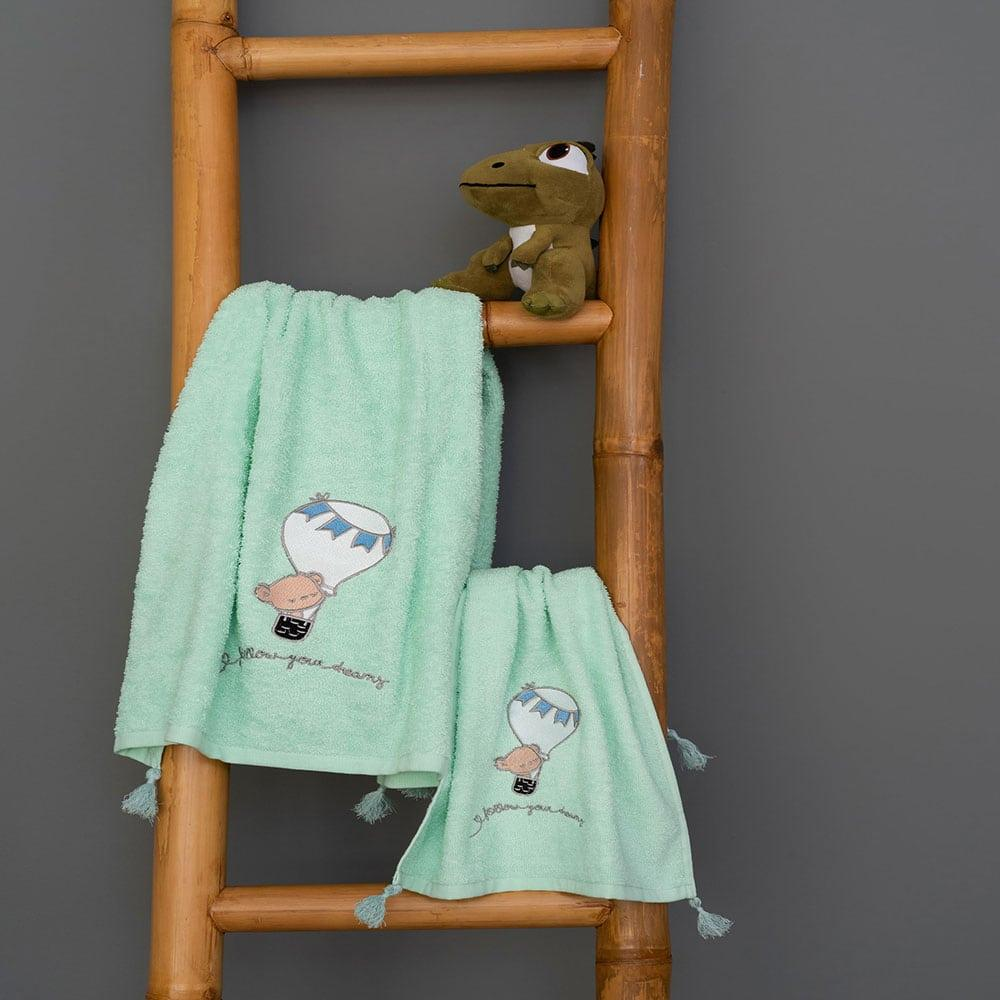 Πετσέτες Παιδικές Σετ 2τμχ Journey Boy Mint Palamaiki