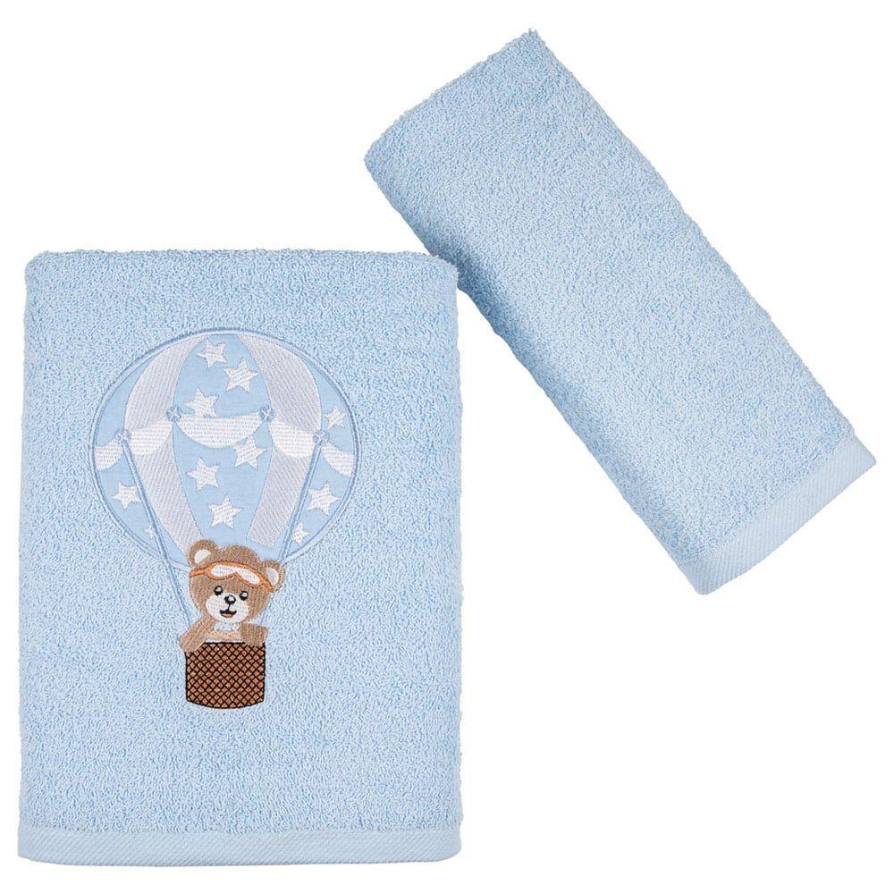 Πετσέτες Παιδικές Balloon Σετ 2τμχ Light Blue Astron