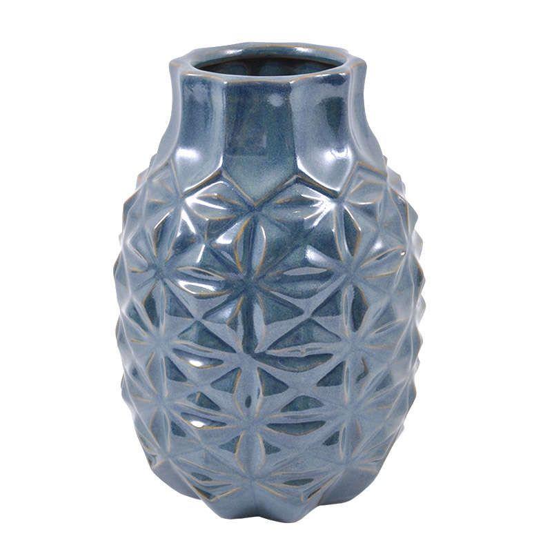 Βάζο Κεραμικό 028-82-051 22,5cm Blue
