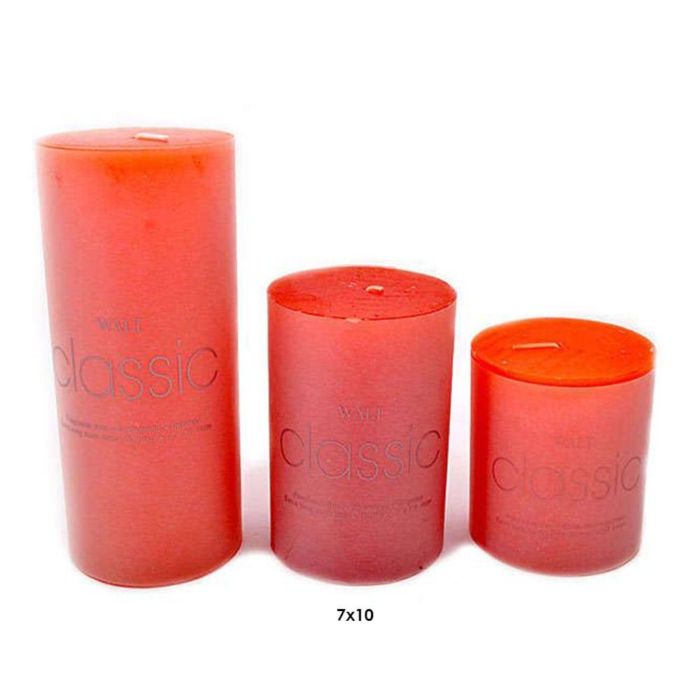 Κερί 373-18-228 SH 7x10cm Orange Σετ 2τμχ
