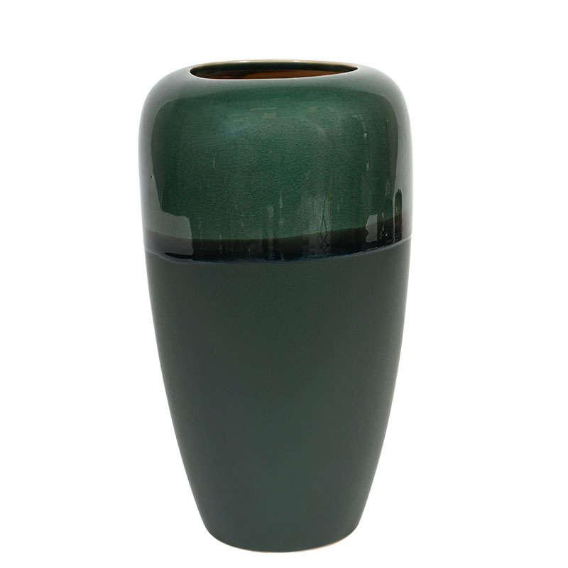 Βάζο Διακοσμητικό 17143 30.3cm Green 1-0034-91-015 Etiquette