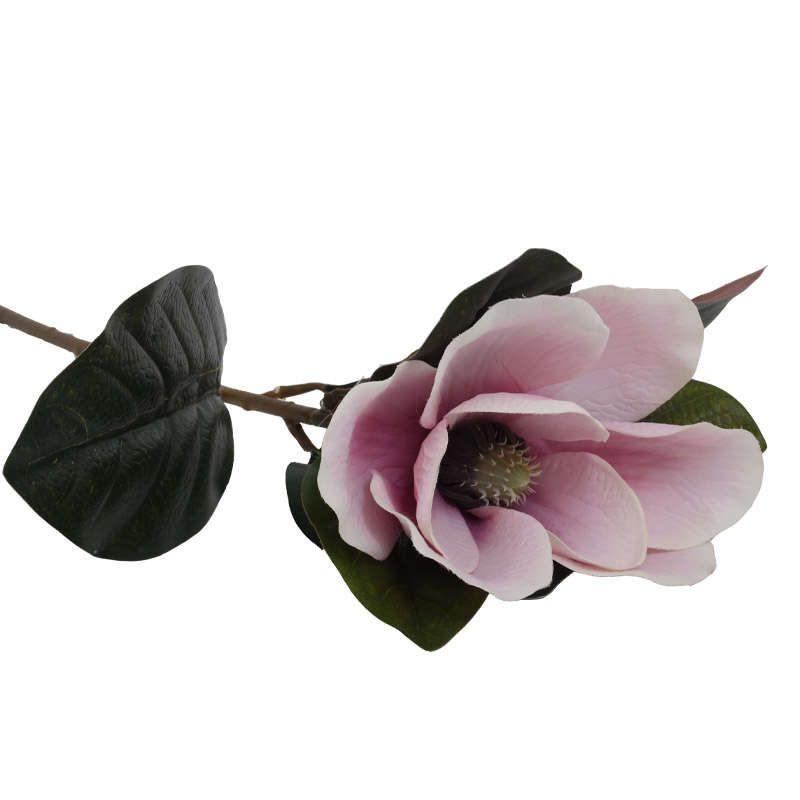 Διακοσμητικό Λουλούδι Μανώλια 73cm Coral, Pink, White 1-371-00-020 Etiquette Σετ 2τμχ