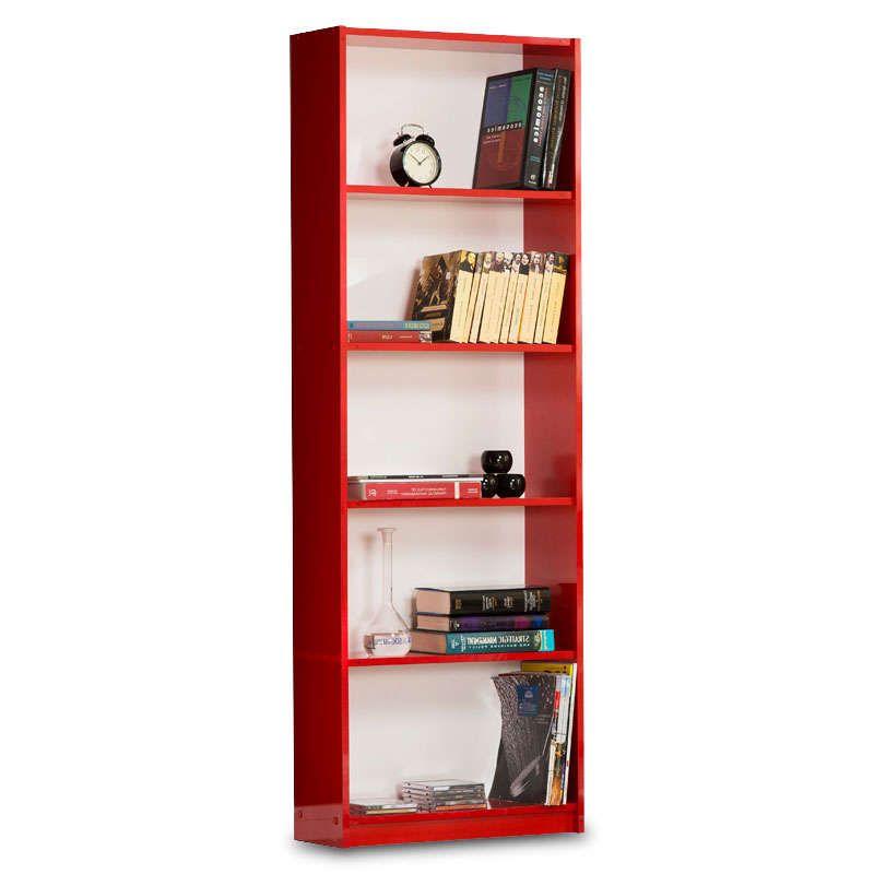 Βιβλιοθήκη Max Κόκκινη 58X23X170Cm 039-000017