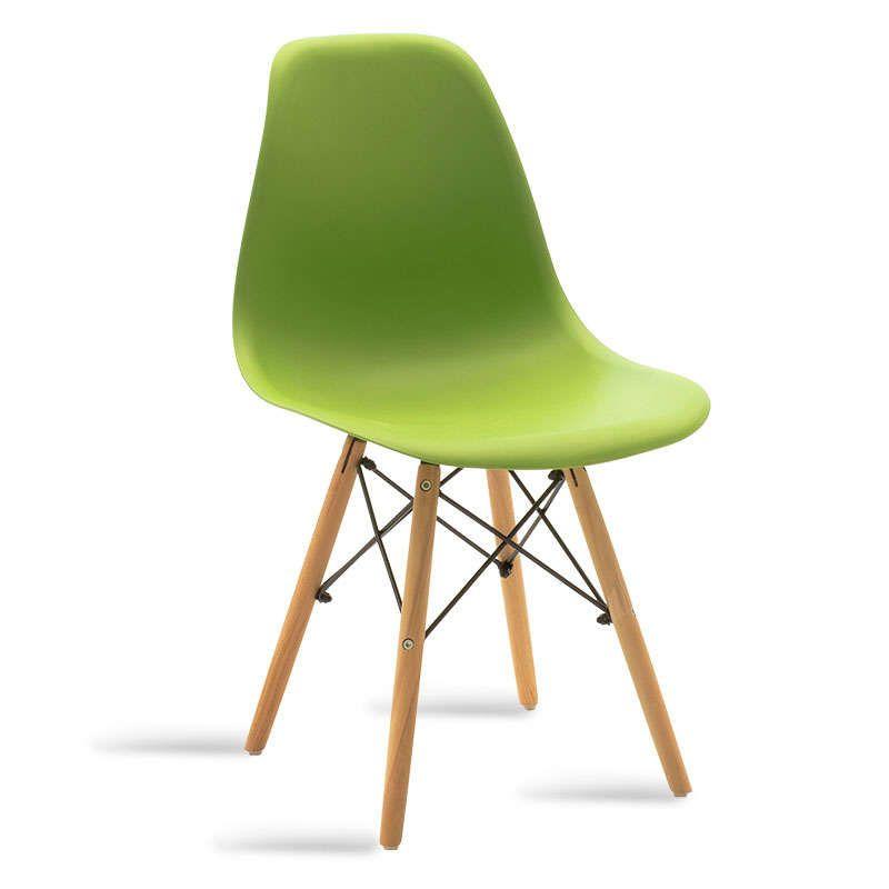 Καρέκλα Julita 029-000038 Green - Natural Σετ 2τμχ
