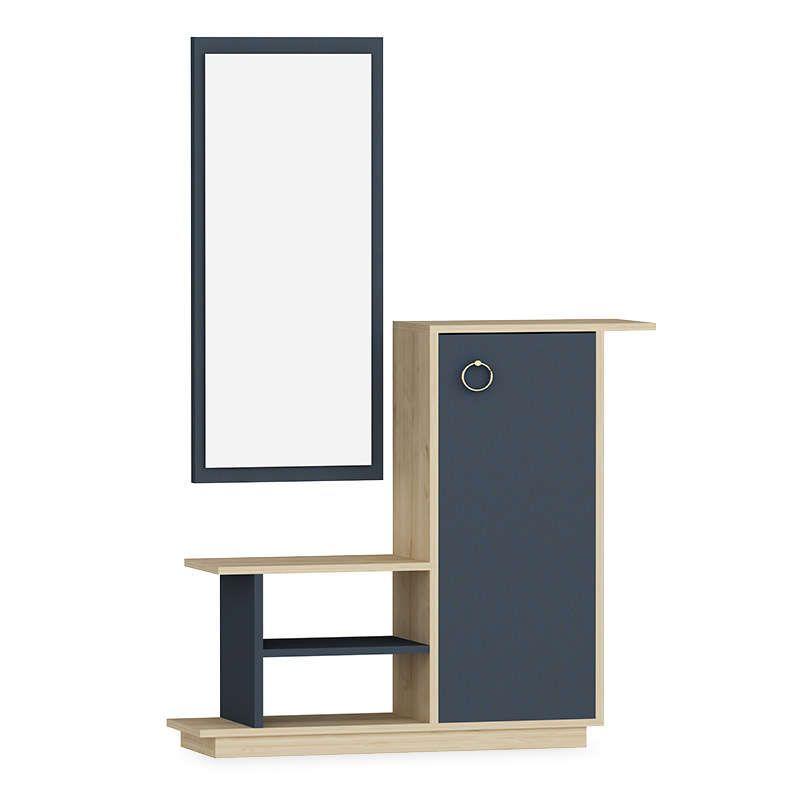 Έπιπλο Εισόδου Με Καθρέπτη Ceel 120-000006 80x29.5x90cm Natural-Grey
