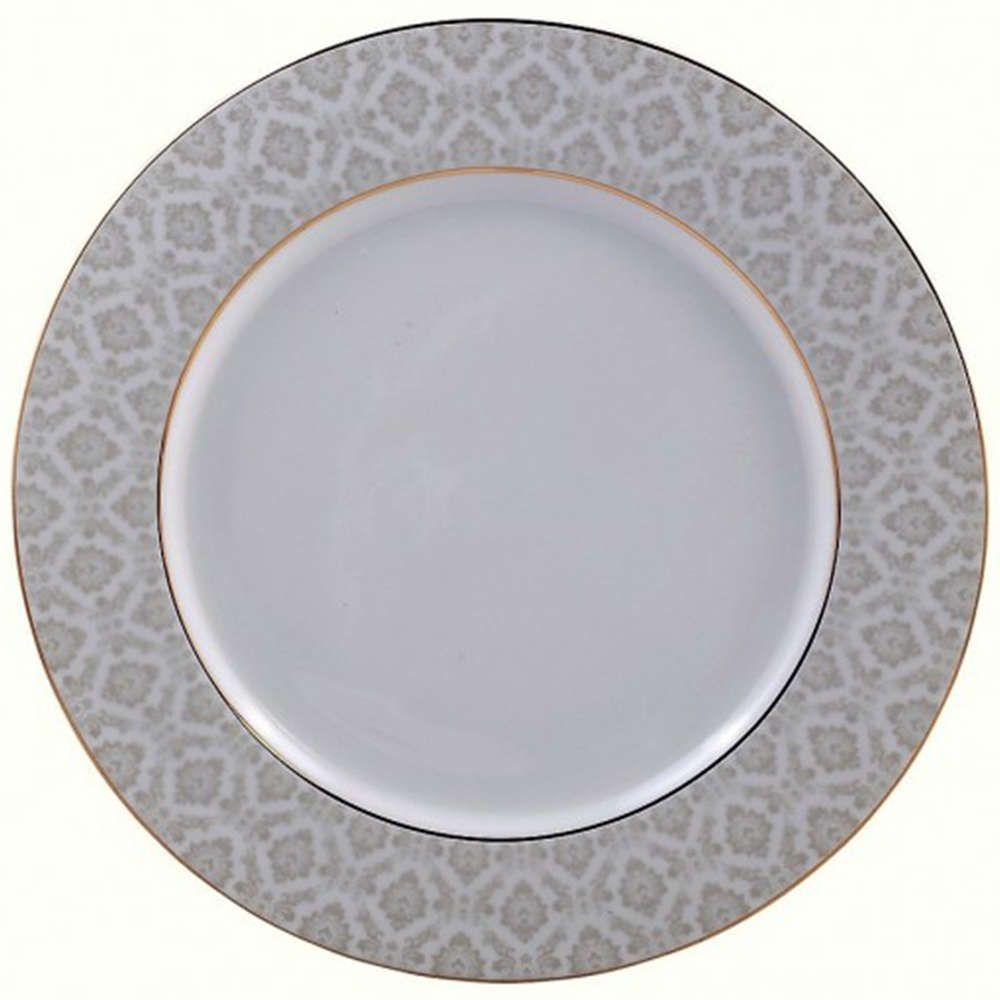 Πιάτο Φρούτου Πορσελάνινο PR14141103 20cm White-Gold Oriana Ferelli®