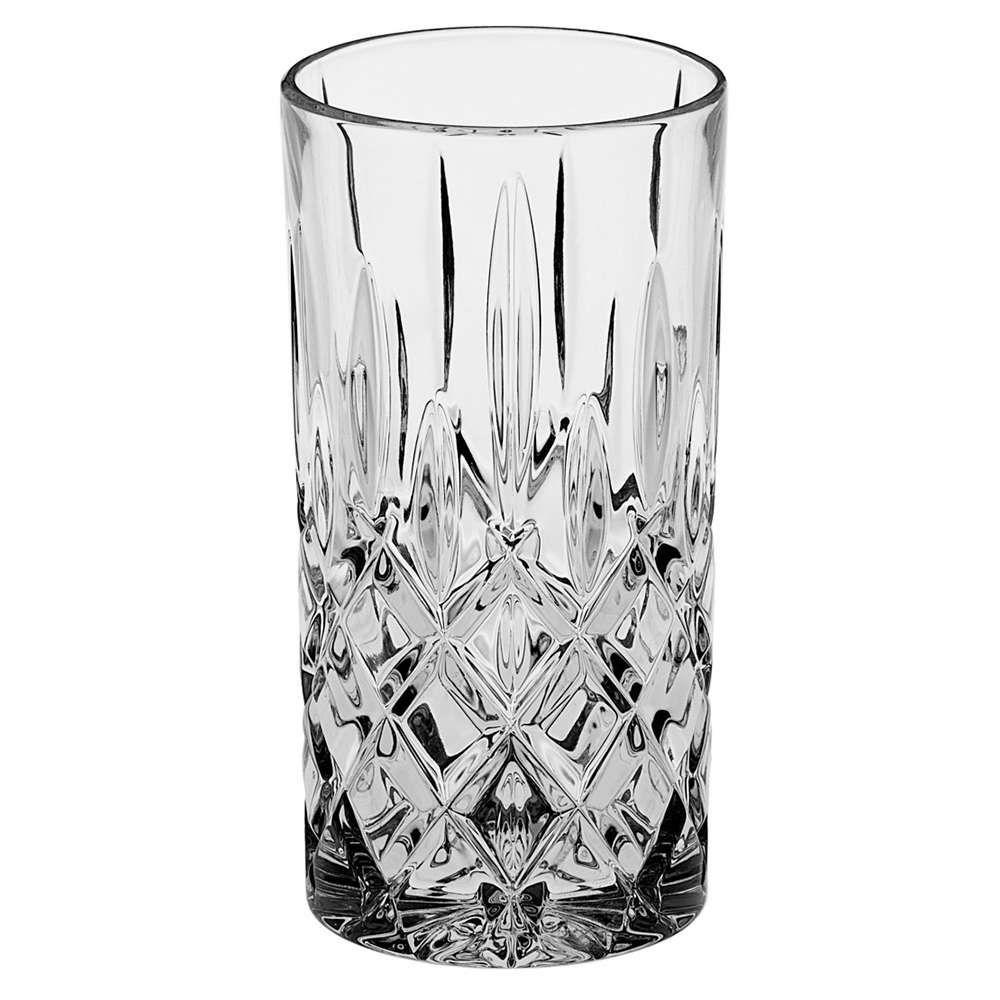 Ποτήρι Νερού Σωλήνα Sheffield CBH00702220 380ml Clear Από Κρύσταλλο Βοημίας