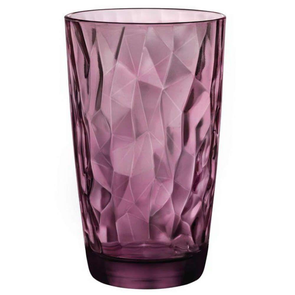 Ποτήρι Σωλήνα Diamond BR00125501 470ml Rock Purple Bormioli Rocco