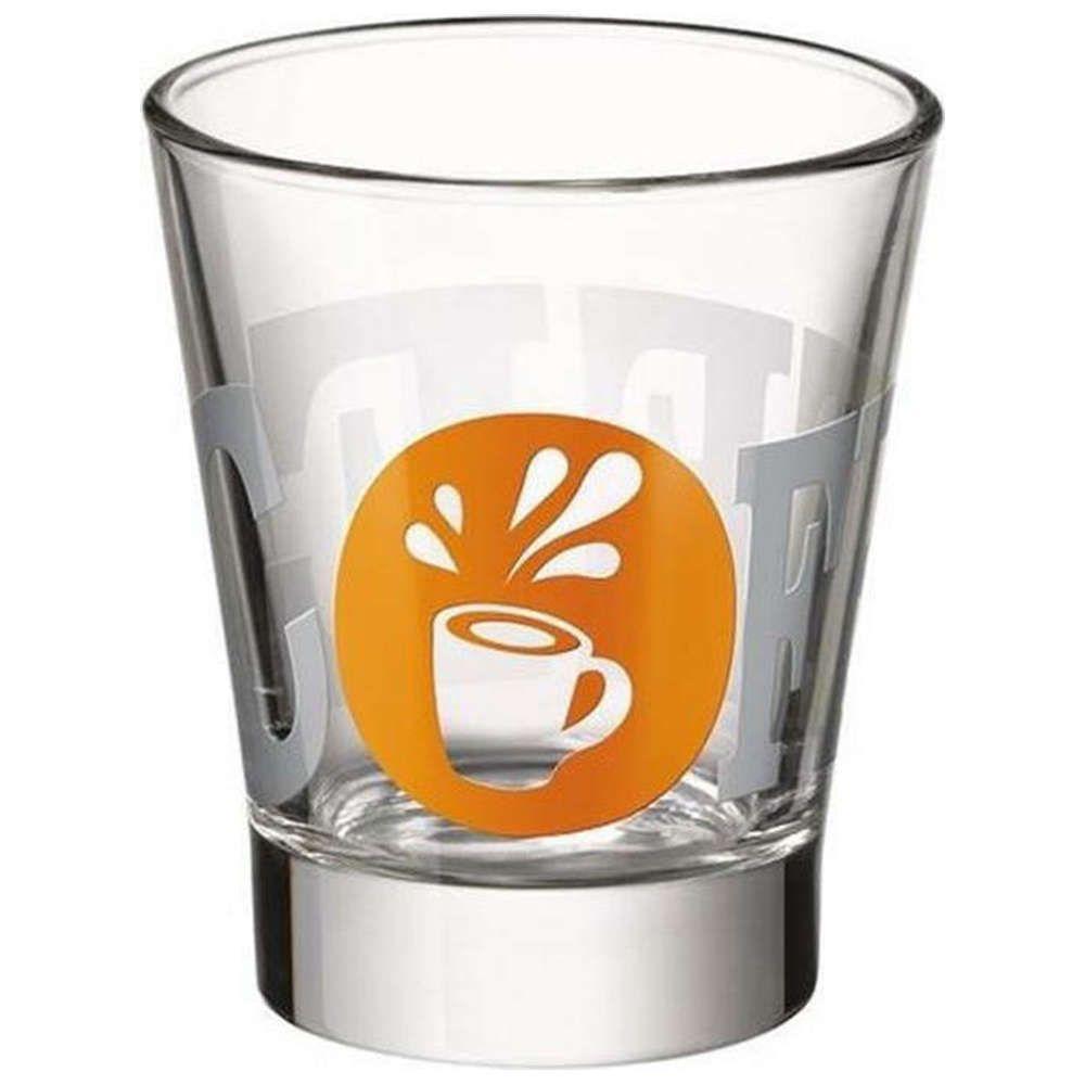 Ποτήρι Espresso Caffeino Db (Σετ 36Τμχ.) BR04528336 Orange-Clear Bormioli Rocco