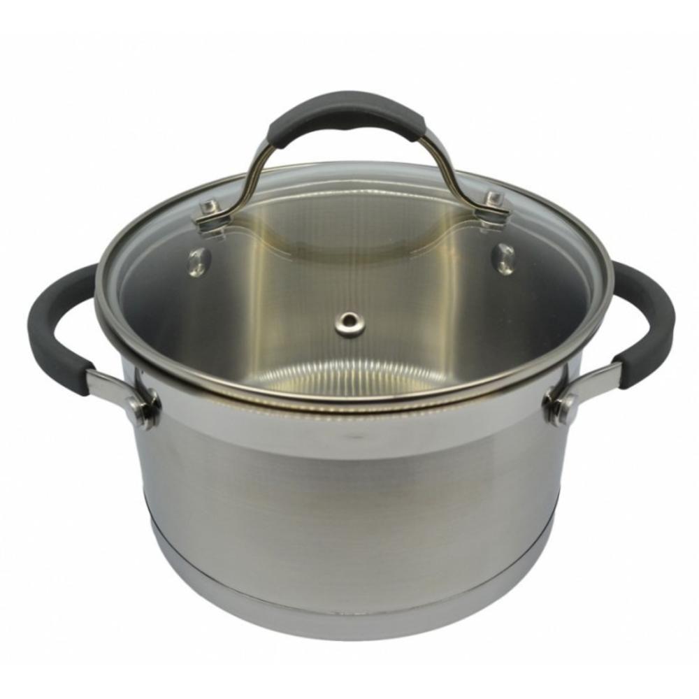 Κατσαρόλα Με Γυάλινο Καπάκι Κ7800-18 Φ18cm-2,6Lt Inox Ankor
