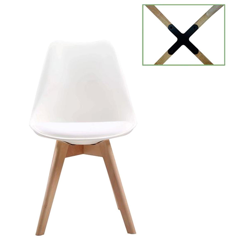 Καρέκλα Martin ΕΜ136,10 White 49x54x82cm Σετ 4τμχ