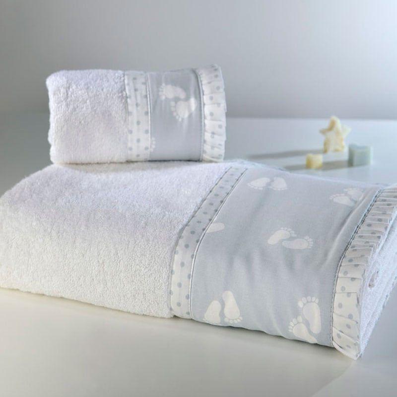 Πετσέτες Παιδικές ΣΧ.689 Σετ 2τμχ White-Grey Down Town