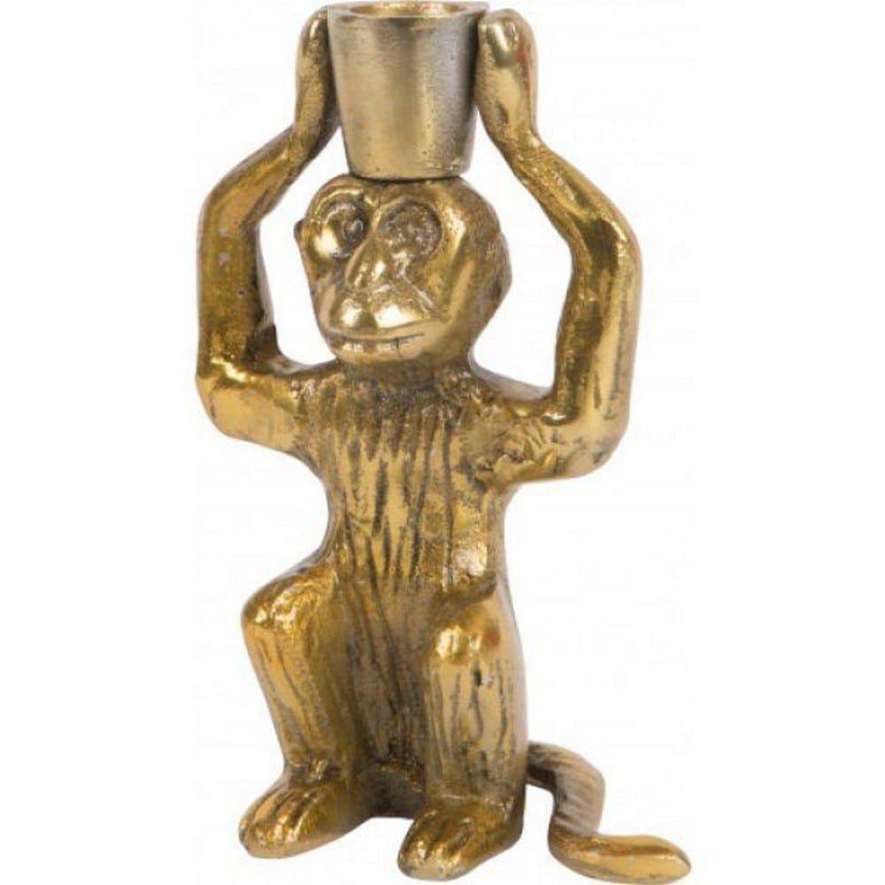 Κηροπήγιο Μαϊμού ISCS773 16,5cm Gold