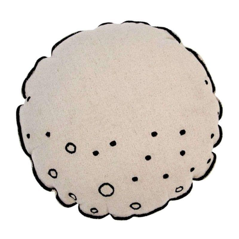 Μαξιλάρι Παιδικό Διακοσμητικό (Με Γέμιση) Στρογγυλό Σελήνη LΟR-SC-ΜΟΟΝ Μπεζ-Κόκκινο Lorena Canals