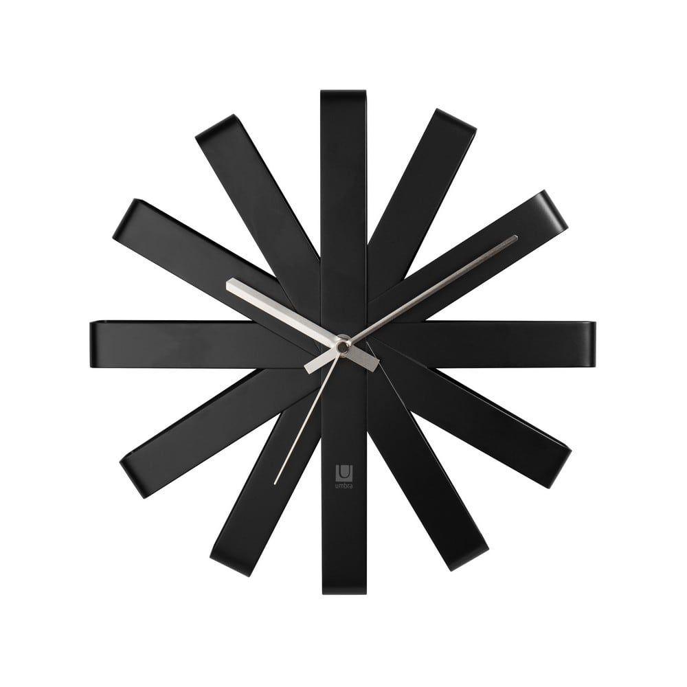 Ρολόι Τοίχου Ribbon 118070-040 30CM Black Umbra
