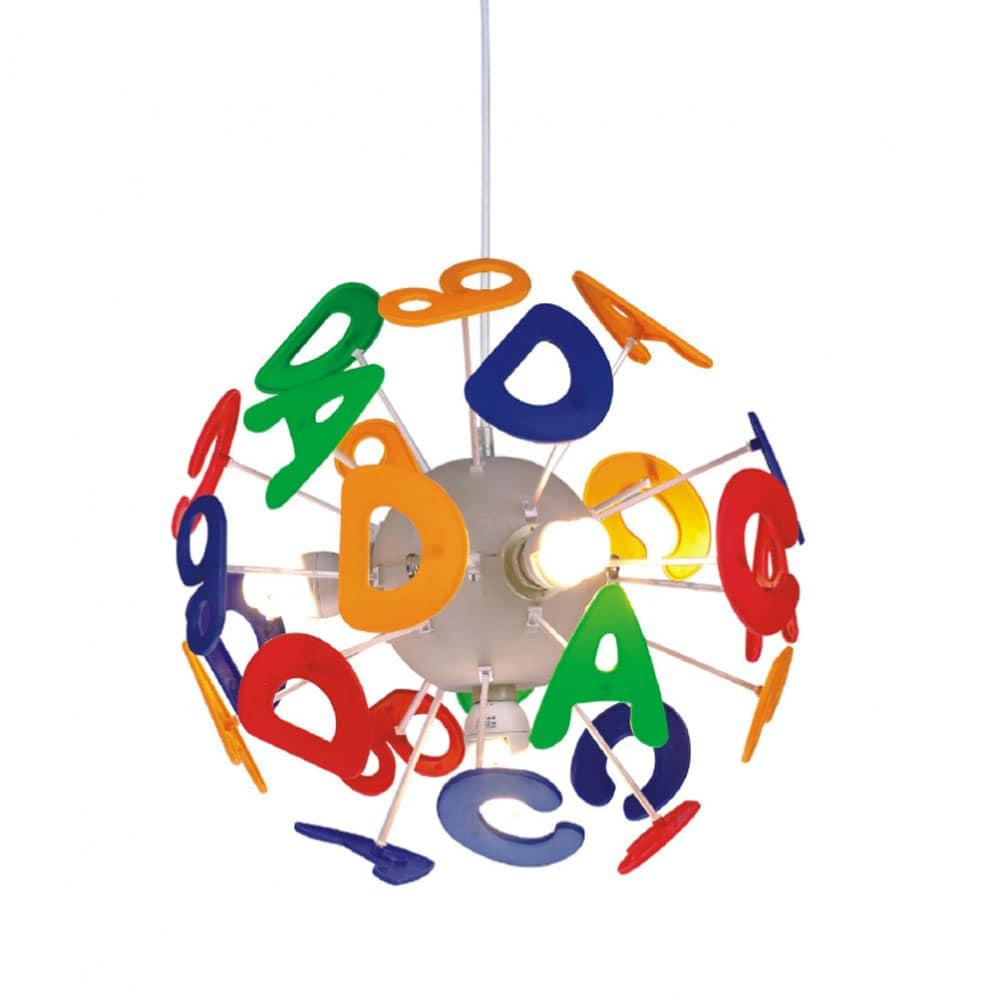 Φωτιστικό Οροφής Παιδικό MD70853E Γράμματα 3X40W E14 Φ35cm School Multi Aca Decor