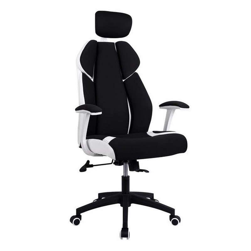Καρέκλα Γραφείου Διευθυντική 65x70x128 HM1086.02 Black-White